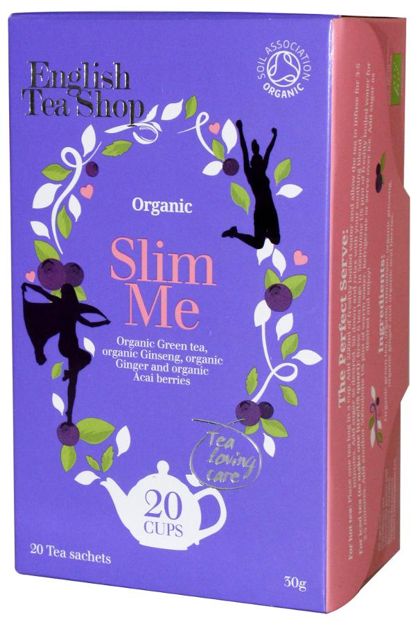 English Tea Shop Organic Slim Me Tea - 20 Bags - Sachets