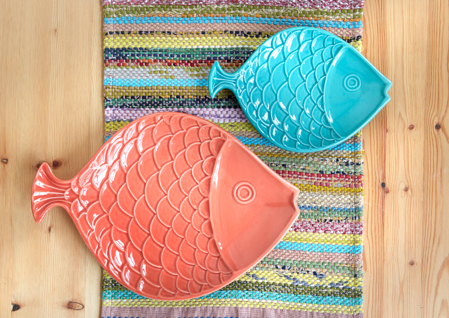 Image of Bright Fish Platters - Set of 2