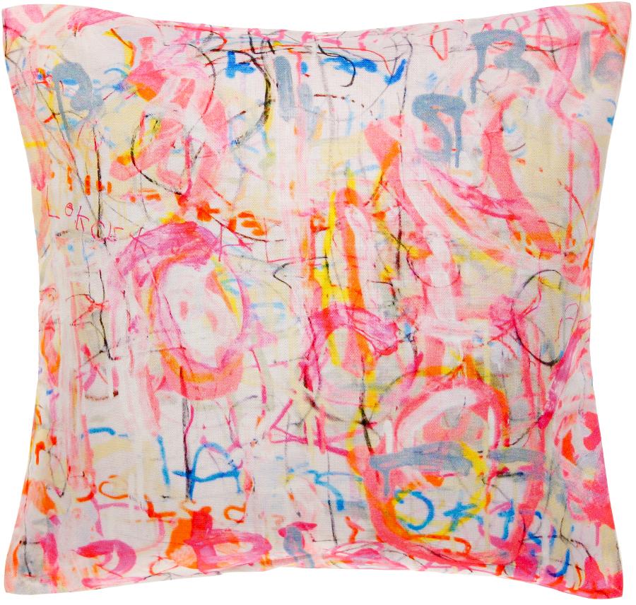 Image of Arthouse Meath Charity Pink Graffiti Cushion