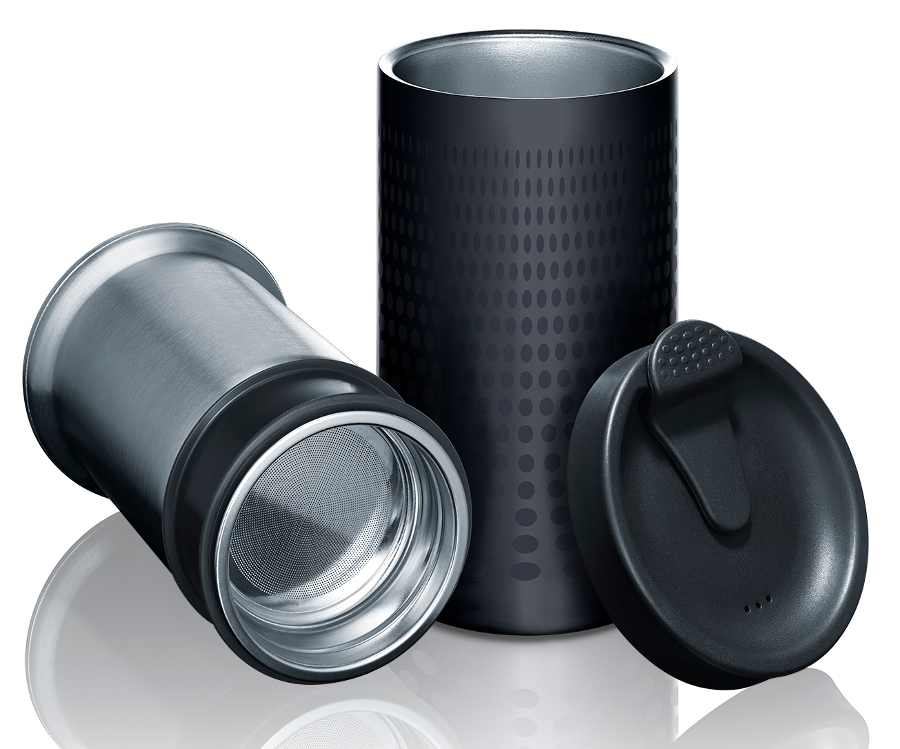 Bobble Presse - Insulated Coffee Press & Travel Mug - Black