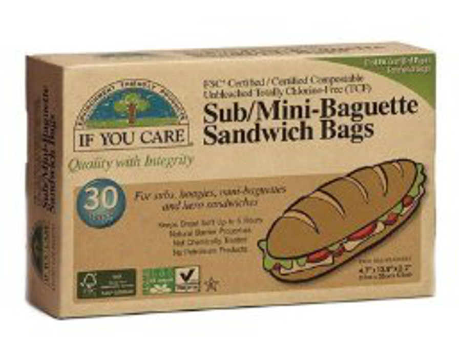 If You Care Paper Sub / Baguette Bags - 30 Bags