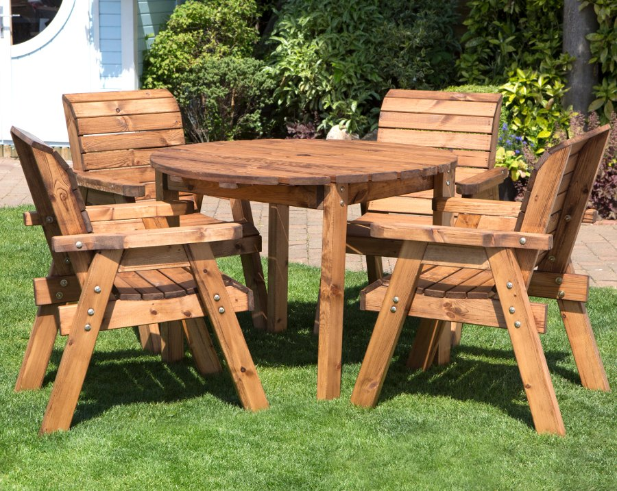 Four Seater Outdoor Circular Table Set - HB09