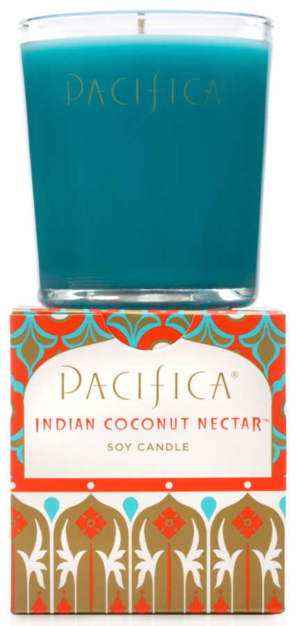 Image of Pacifica Indian Coconut Nectar Scented Soy Candle - 160g