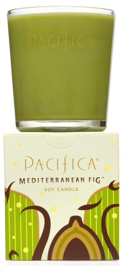 Image of Pacifica Mediterranean Fig Scented Soy Candle - 160g