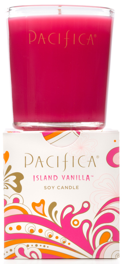 Image of Pacifica Island Vanilla Scented Soy Candle - 160g