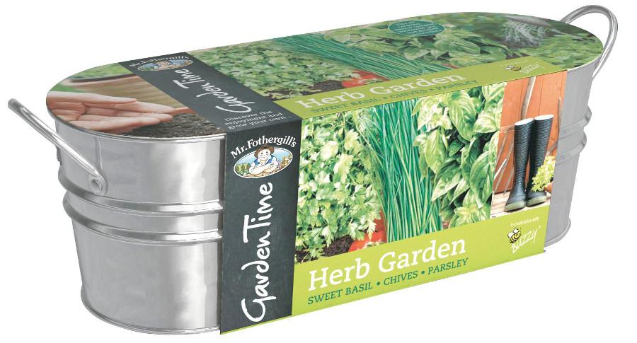 Image of Mr Fothergill's Garden Time Windowsill Kit - Herb Garden