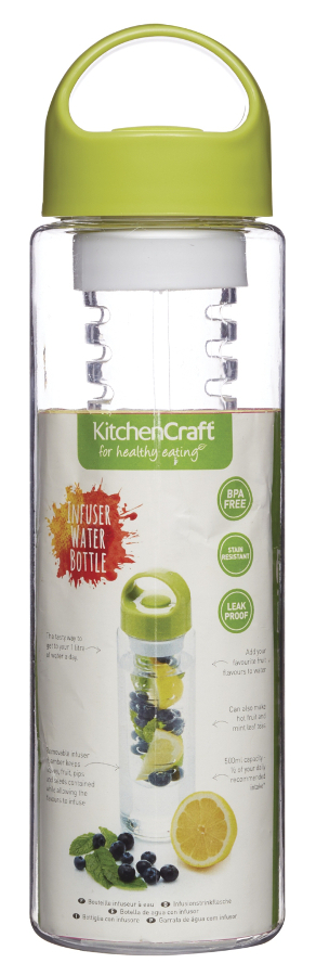 Kitchen Craft Infuser Water Bottle 500ml at Natural Collection
