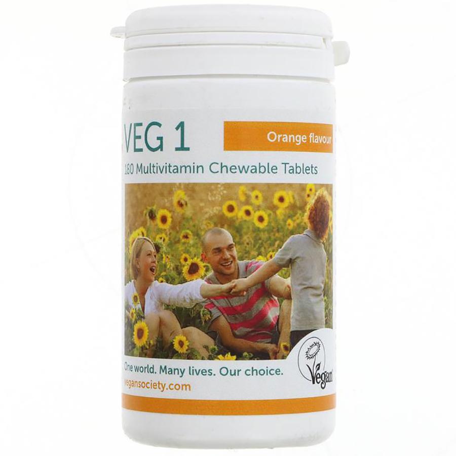 Veg1 Vegan Multivitamin Chewable Tabs - Orange 180 tablets