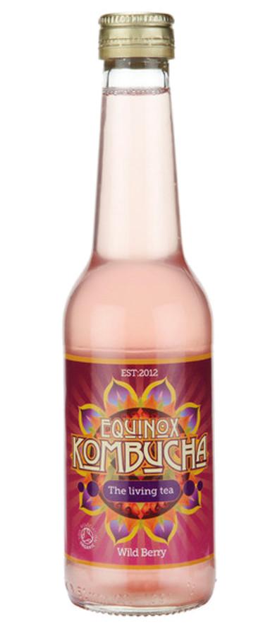 Equinox Kombucha Organic Fair Trade Wild Berry Green Tea Drink - 275ml