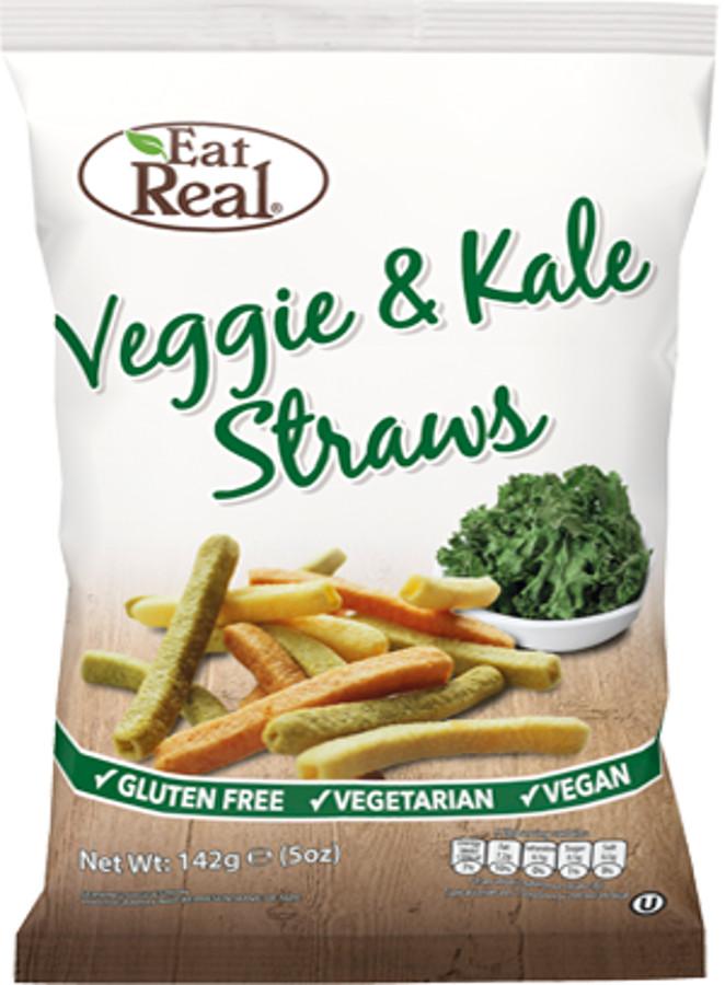 Eat Real Veggie & Kale Gluten Free Straw Crisps - 113g