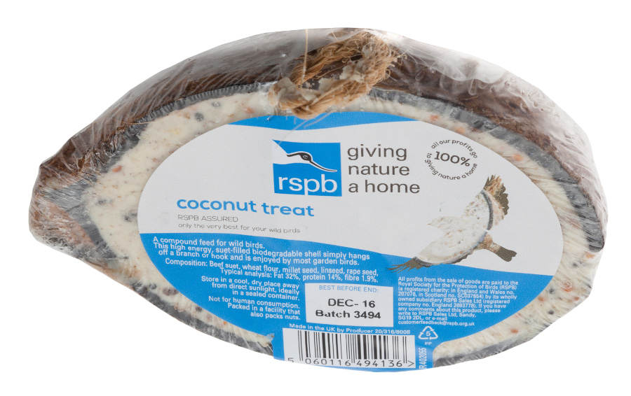 RSPB Coconut Treats Bird Food - 275g