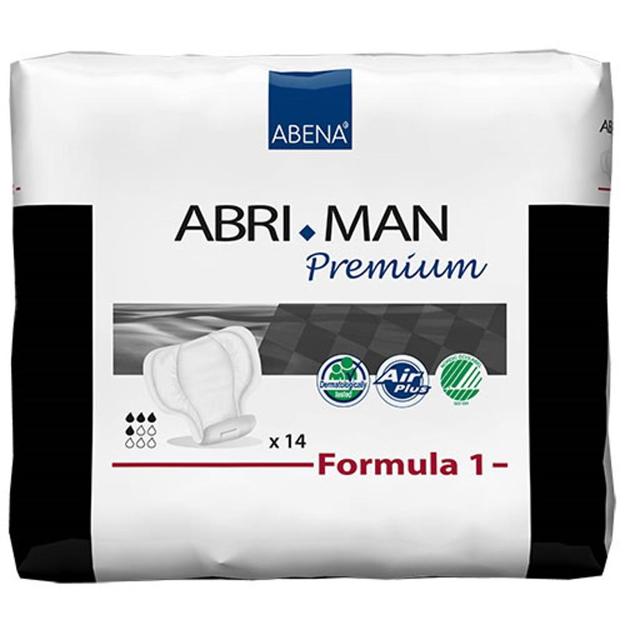 Abri-Man Male Incontinence Pouch Pads - Formula 1 - Premium 3A