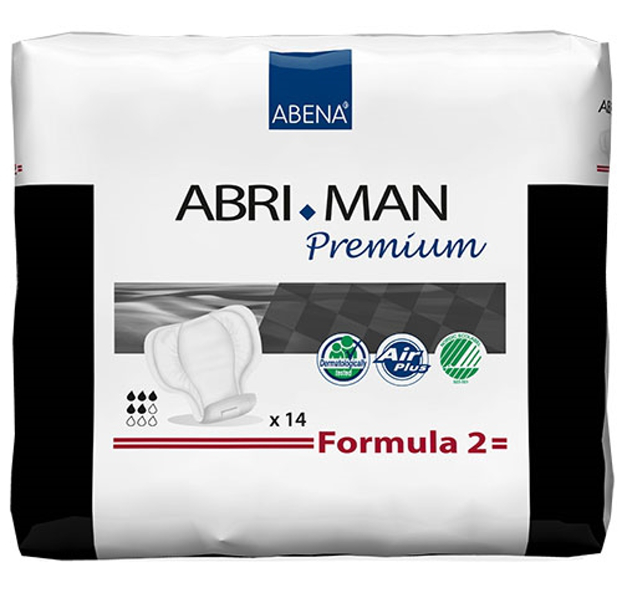 Abri-Man Male Incontinence Pouch Pads - Formula 2 - Premium 4