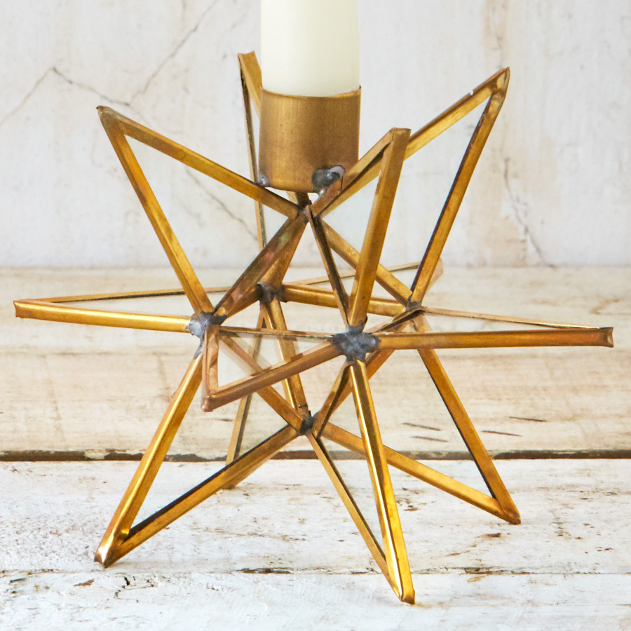 Moba Star Candle Stick - Brass