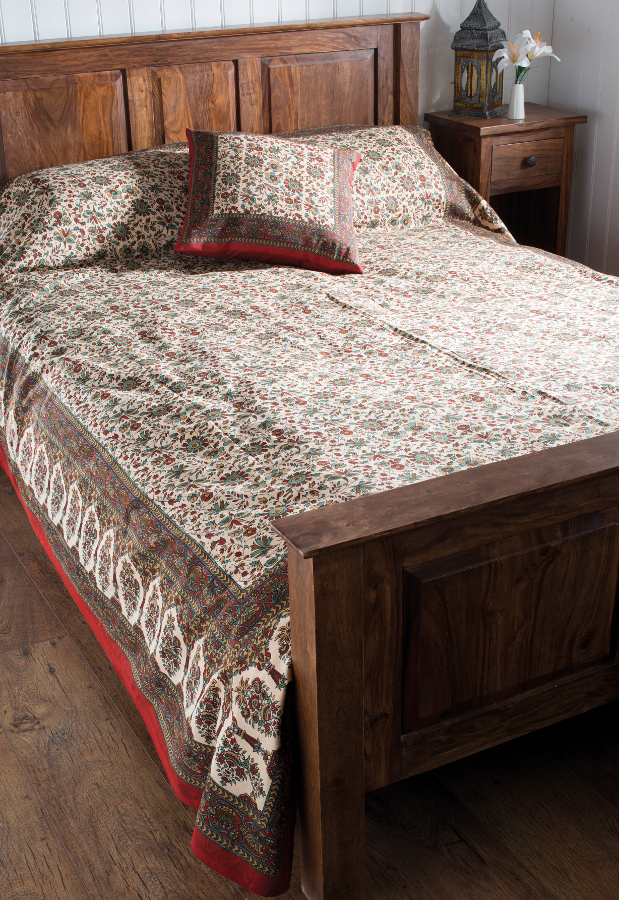 Image of Bagru Cotton Printed Bedcover & Wallhanging