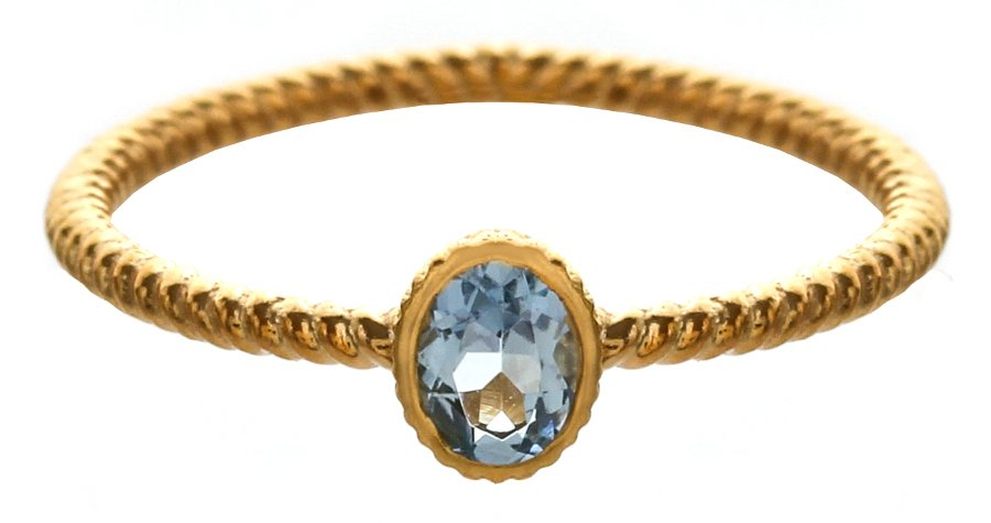 Marzipants 18ct Gold Ring - Aquamarine