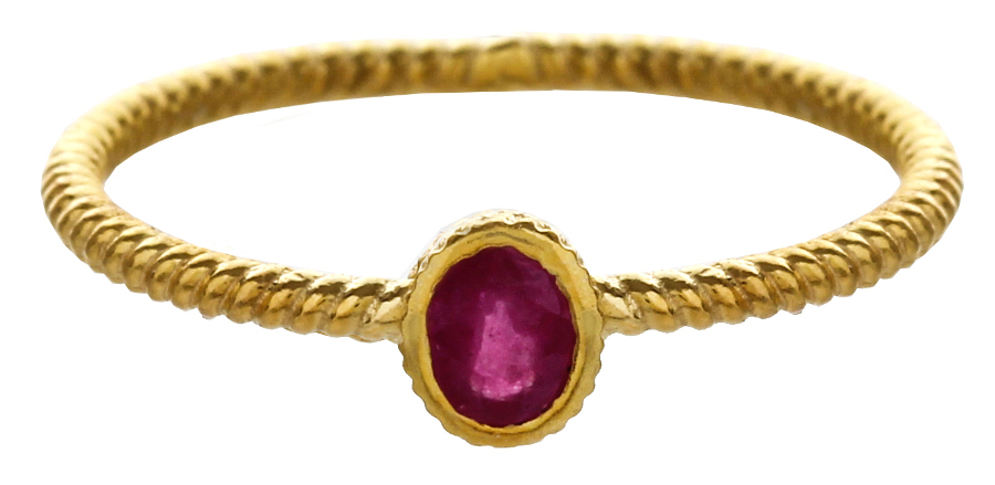 Marzipants 18ct Gold Ring - Ruby