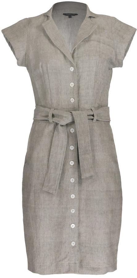 Nancy Dee Cate Light Grey Shirt Dress