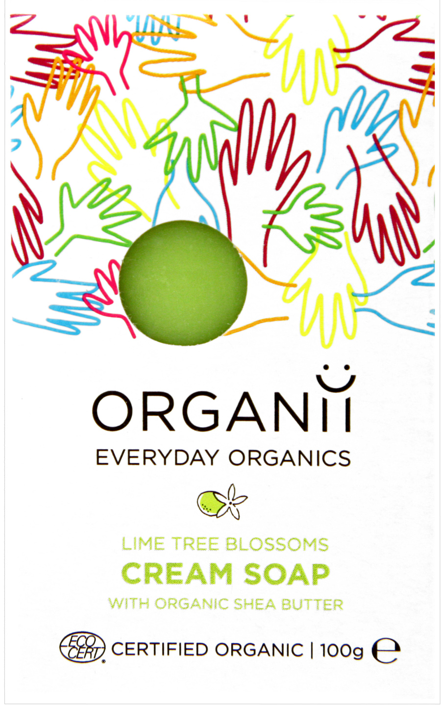 Organii Organic Cream Soap Lime Blossom - 100g at Natural Collection