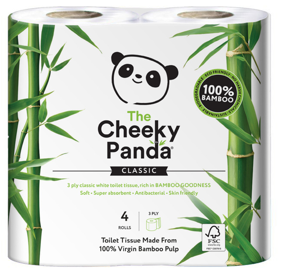 The Cheeky Panda FSC Bamboo Toilet Tissue - 4 Rolls