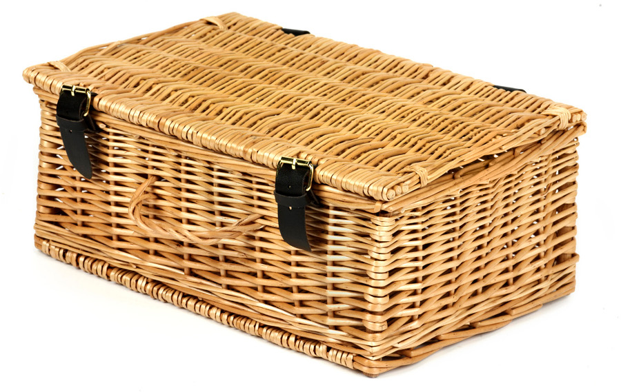 "Image of 14 Wicker Hamper Basket"""