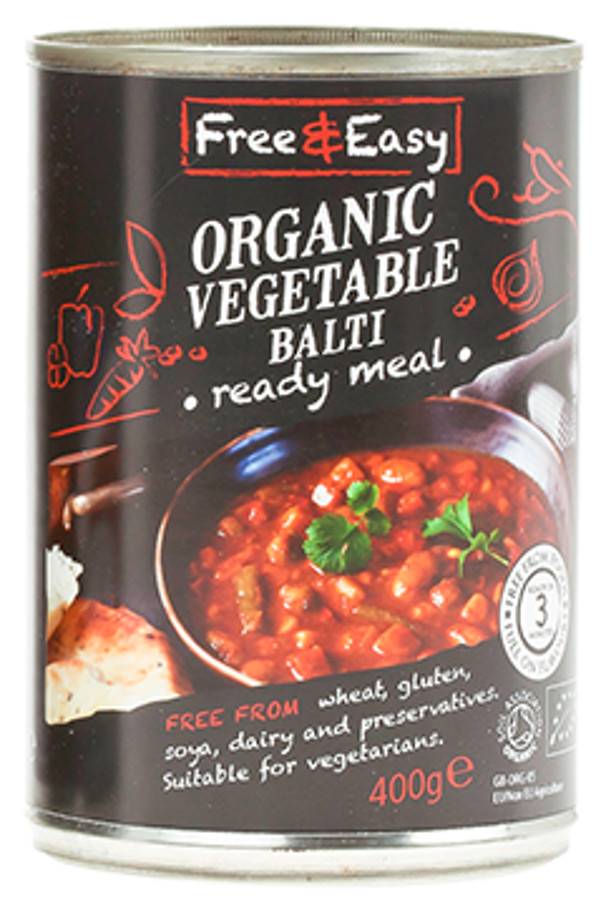 Free & Easy Organic Vegetable Balti - 400g
