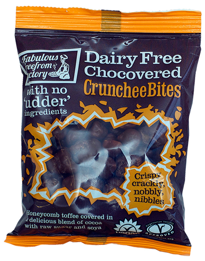 Fabulous Free From Factory Chocovered Crunchee Bites - 65g