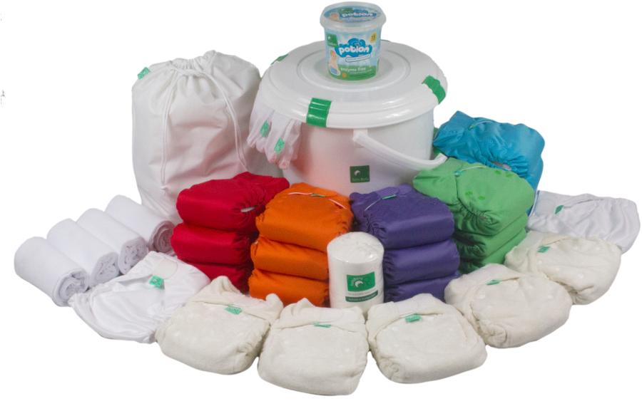 Tots Bots Birth to Potty Reusable Nappy Kit.