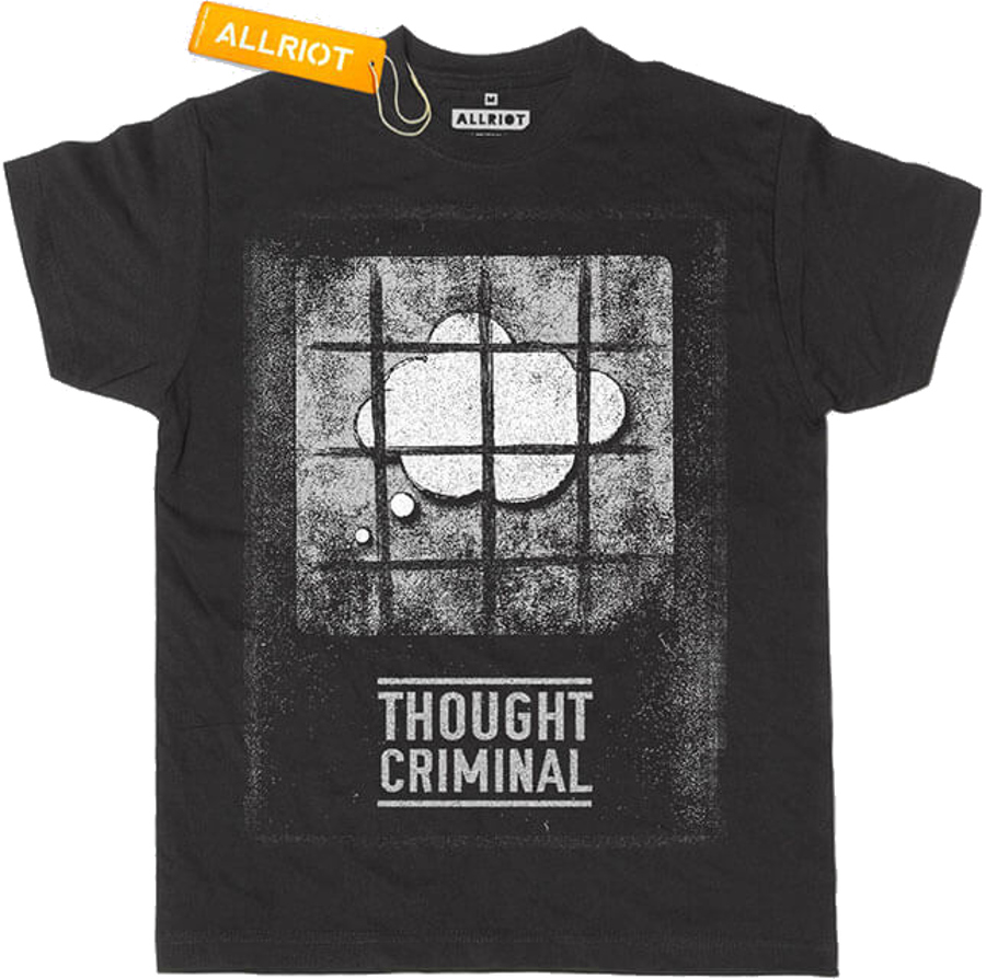 All Riot 'Thought Criminal' Political T-Shirt