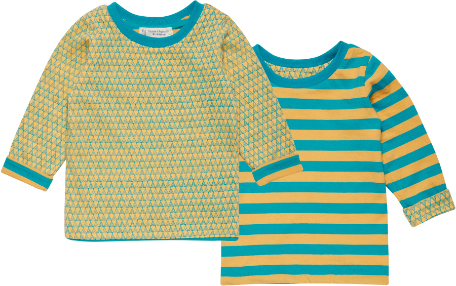 Sense Organics Reversible Felix Shirt - Turquoise Tippie