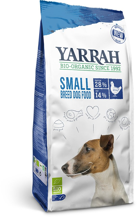Yarrah Organic Adult Small Breed Dog Food - Chicken 2kg