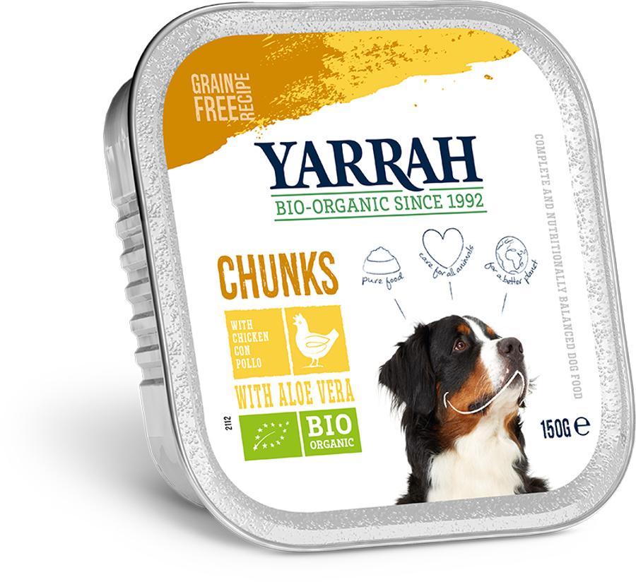 Yarrah Organic Dog Food - Chicken Chunks With Aloe Vera 150g