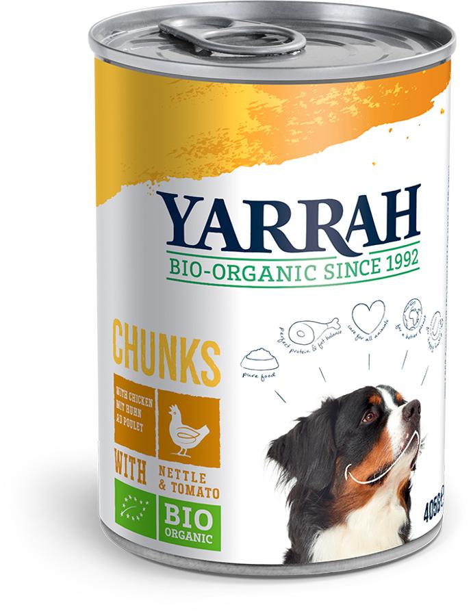 Yarrah Organic Dog Food - Chicken Chunks With Nettle & Tomato 405g