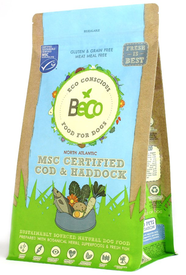 Beco Natural Dog Food 2kg - MSC Certified Cod & Haddock