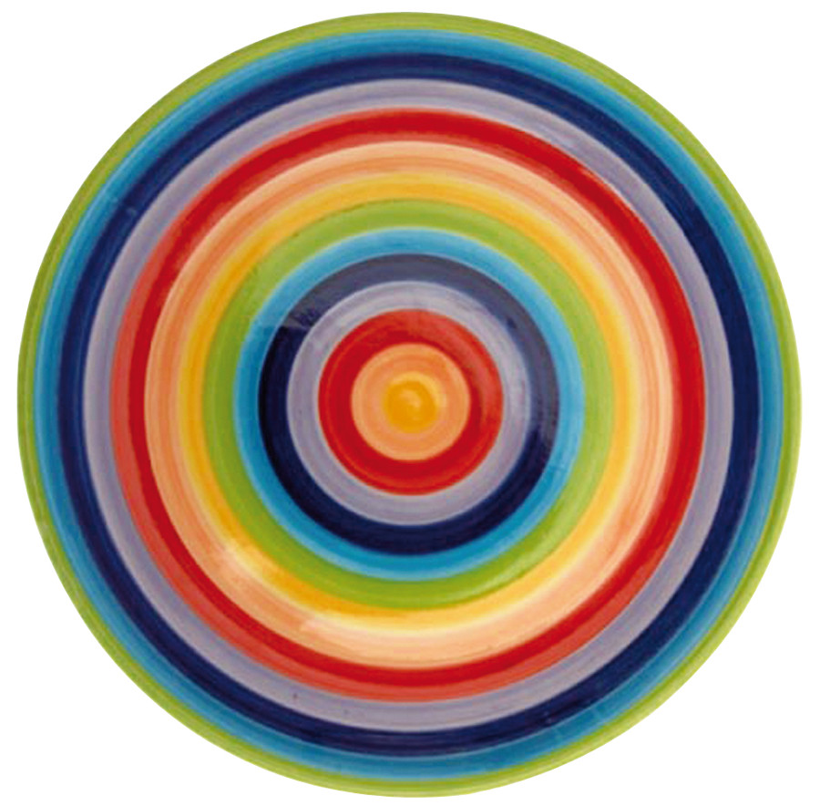 Hand Painted Rainbow Plate - 26cm.