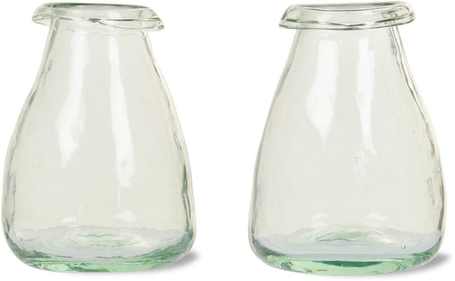 Recycled Glass Bud Vase - set of 2.