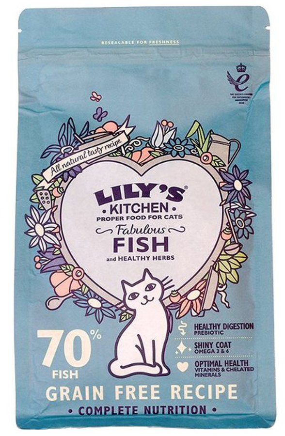 Lily's Kitchen Fabulous Fish Complete Dry Cat Food - 800g