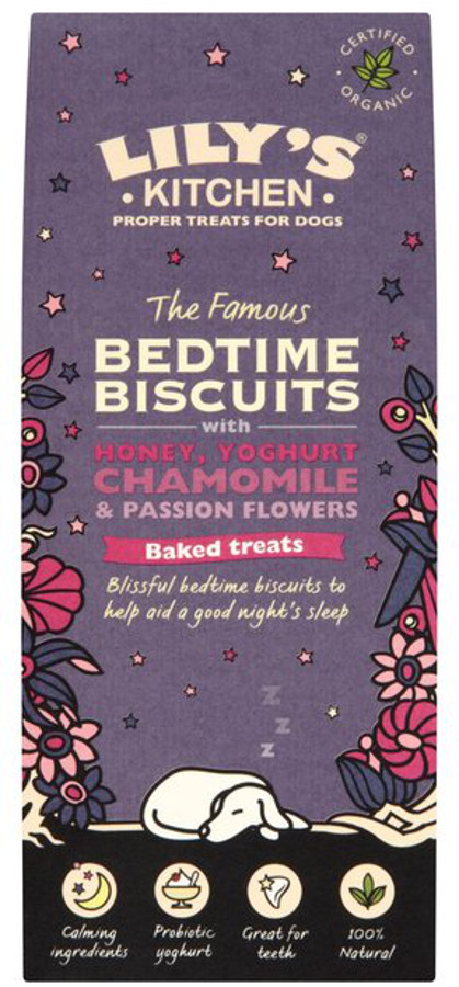 Lily's Kitchen Organic Bedtime Dog Biscuits - 100g.