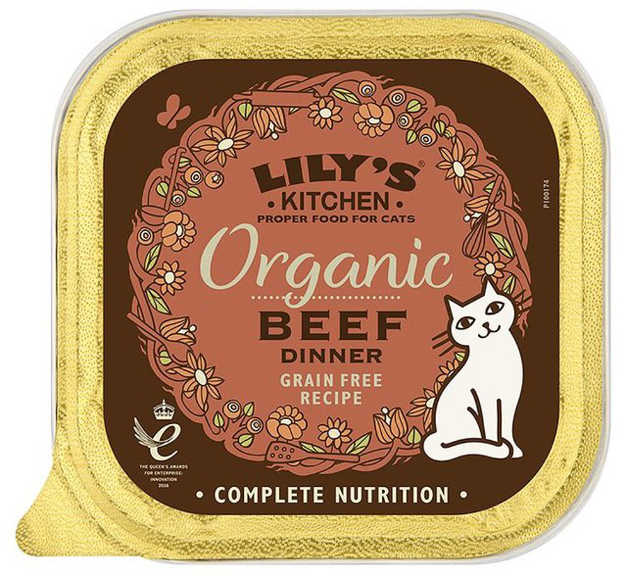 Lily's Kitchen Organic Beef Dinner Wet Cat Food - 85g