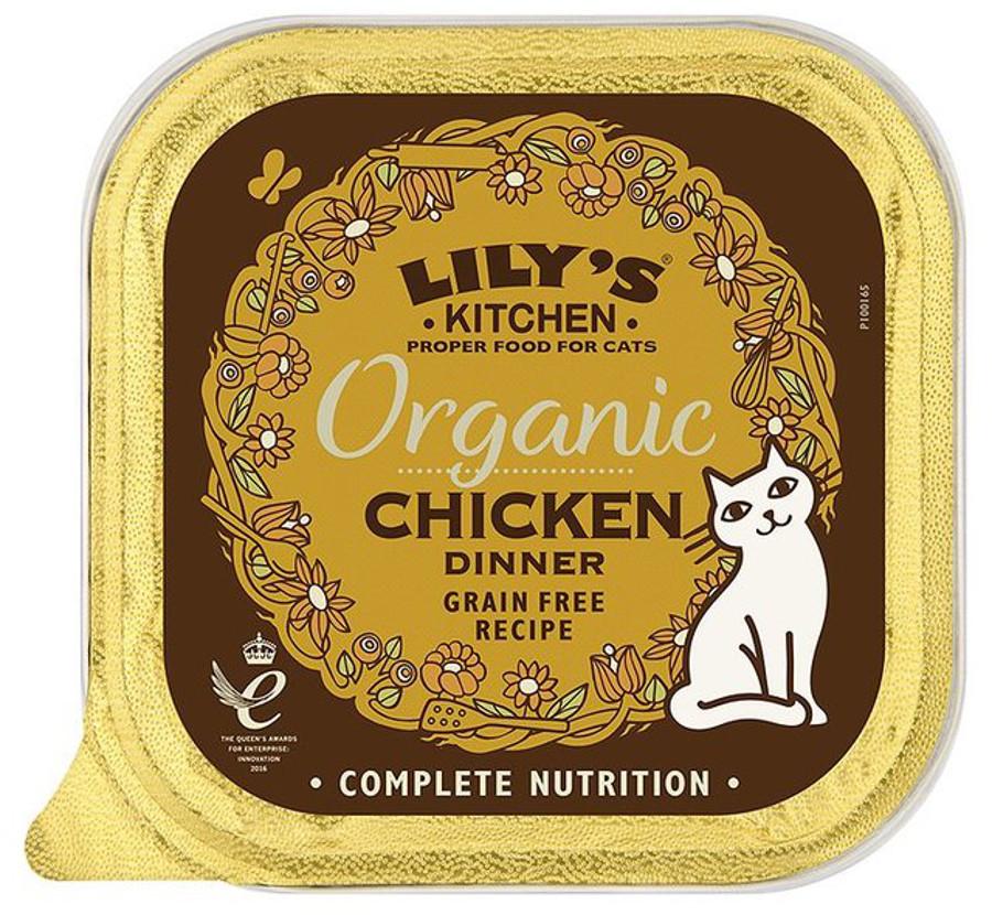 Lily's Kitchen Organic Chicken Dinner Wet Cat Food - 85g