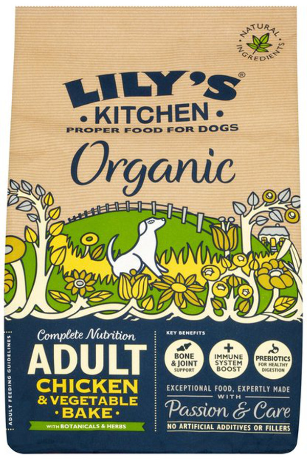Lily's Kitchen Organic Chicken & Vegetable Bake Dry Dog Food - 1kg
