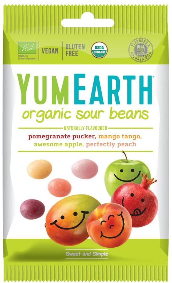 YumEarth Vegan Sour Jelly Beans - 50g