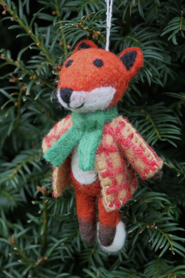 Hanging Christmas Tree Decoration - Mr Fox