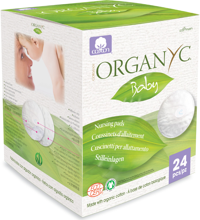 Organyc 100% Organic Cotton Breast Pads - Pack Of 24
