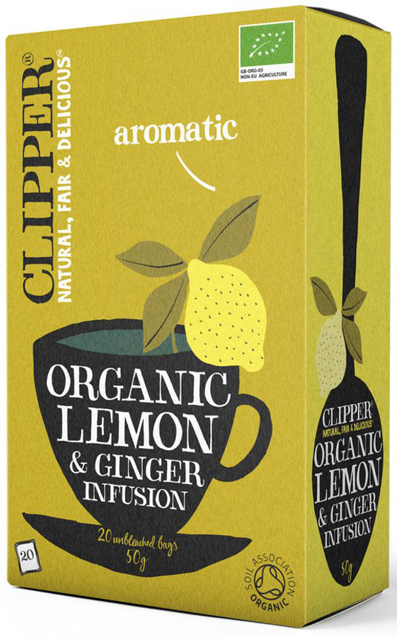 Clipper Lemon & Ginger Tea 20 Bags