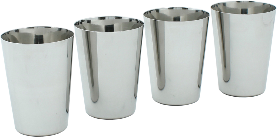 Image of A Slice Of Green Stainless Steel Cups - Set of 4