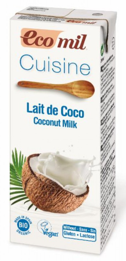 Ecomil Dairy Free Coconut Cuisine Cooking Cream - 200ml.