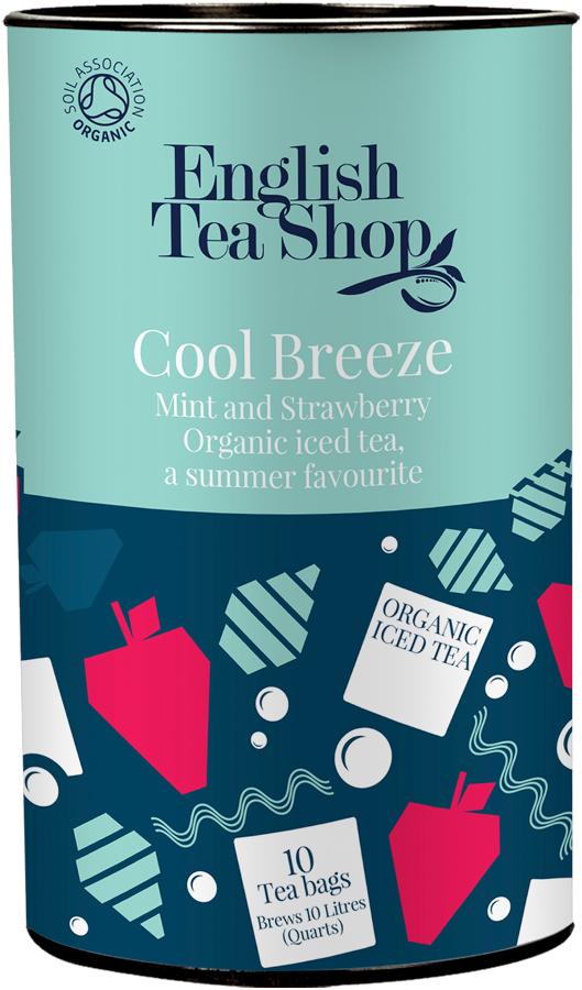 English Tea Shop Organic Iced Tea Bags - Cool Breeze - 10 Bags.