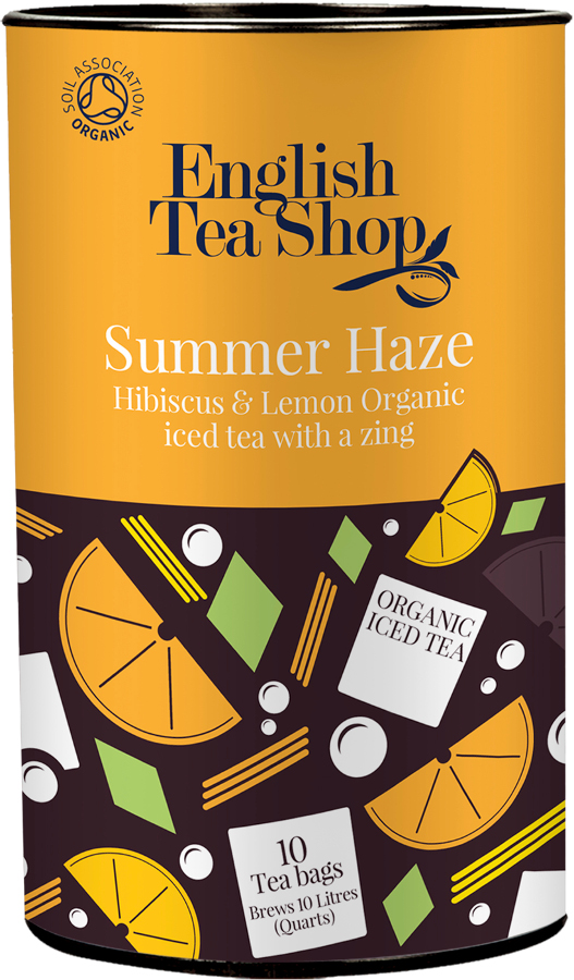 English Tea Shop Organic Iced Tea Bags - Summer Haze - 10 Bags.