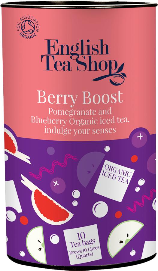 English Tea Shop Organic Iced Tea Bags - Berry Boost - 10 Bags.
